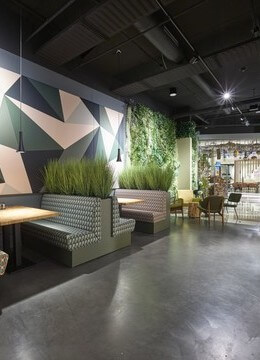Wij hebben fysieke groene showrooms